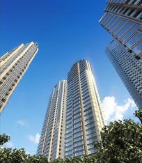 汕头某住宅区高层公寓透视 JPG