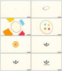 图形动画标志揭示开场AE模板