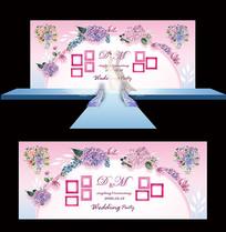 小清新创意婚庆舞台背景板