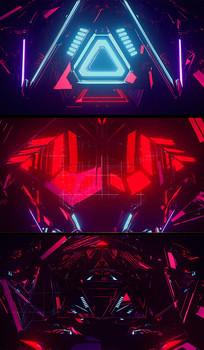 运动机械形状音乐视频背景
