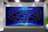 创意大树企业员工形象墙