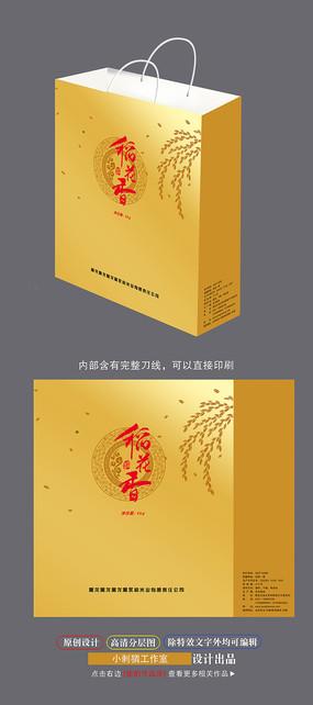 稻花香食品大米手提袋