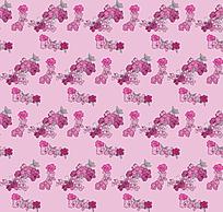 粉紫色花朵平铺背景