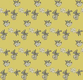 贵族黄花朵平铺背景