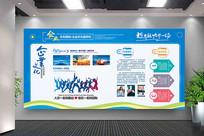 蓝色经典通用企业文化墙