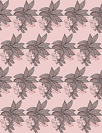 平铺花朵粉色背景