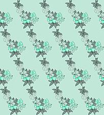 浅绿色花朵背景