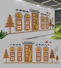 中式一训三风校园文化墙