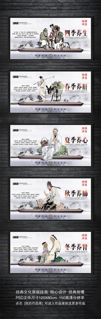 中医传统四季养生文化宣传展板