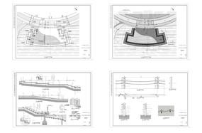 滨水木平台平面图