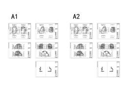 福州某别墅区A类建筑施工图