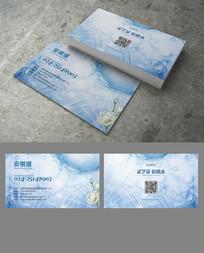 干净水名片设计 AI