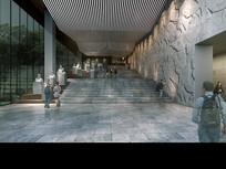 革命烈士纪念馆室内建筑效果图