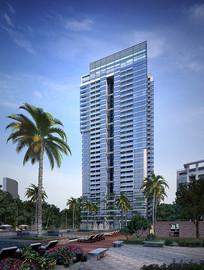 公寓高层建筑效果图 JPG