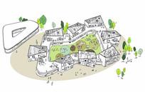 金山幼儿园项目手绘图