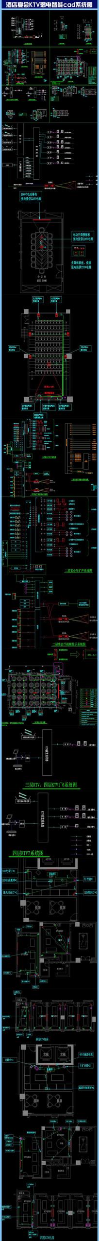 酒店宴会弱电智能cad系统图