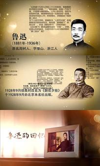 历史人物介绍AE视频模板