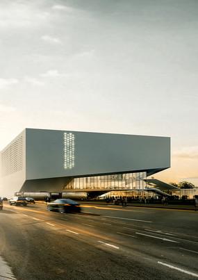 文化馆建筑效果图 JPG