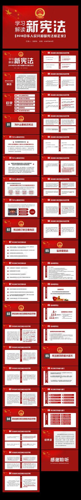 学习宪法修正案ppt模板