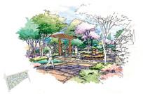 扬州森林湖项目A节点手绘