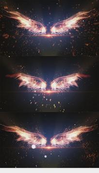 震撼翅膀放飞梦想片头落版特效