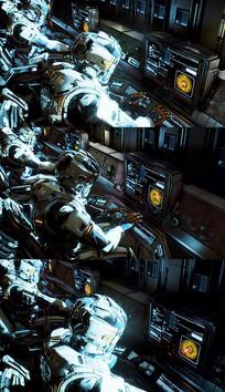 3D宇航员工作背景视频素材