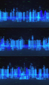 4K科技线条城市背景视频素材