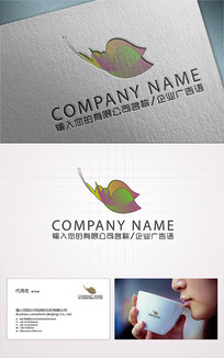 动感时尚蝴蝶logo标志