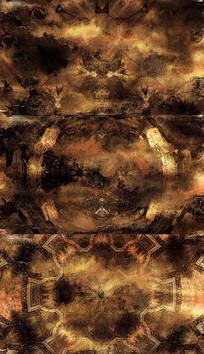 复古水波纹图案背景视频素材