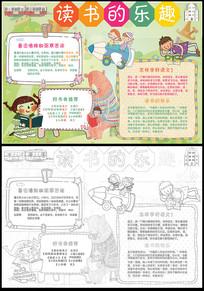 卡通漂亮读书小报手抄报