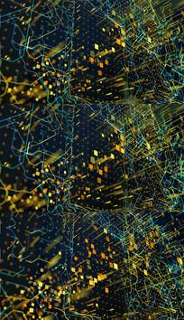 4K抽象金色线路粒子背景视频