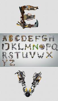 26个字母变形组合视频模板  aep