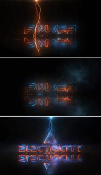 打雷闪电logo片头模板