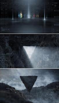 大气电影logo标志片头模板