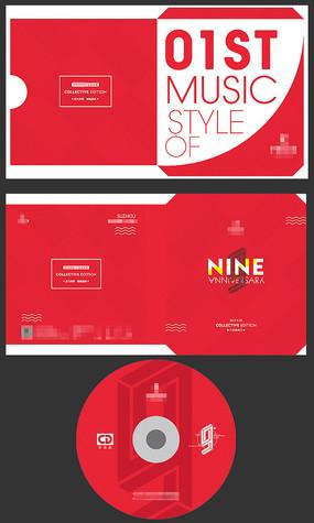 红色光盘外套CD设计 PSD