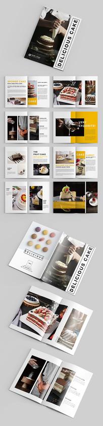 黄色美味蛋糕食品品牌宣传画册