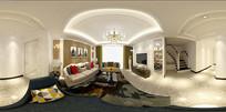 简约欧式客厅模型