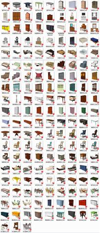 精品欧式家具全套SU模型
