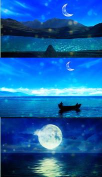 乐曲月亮河舞台背景视频