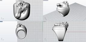 马头戒指模型 3ds