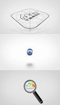 20个简洁logo片头模板
