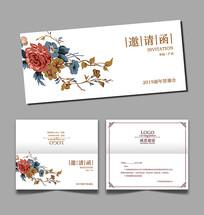 花卉邀请函设计