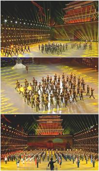 军乐队表演节目长城脚下视频