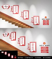 社会主义核心价值观楼梯墙