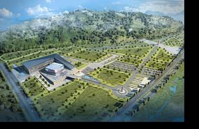 博物馆建筑景观效果图