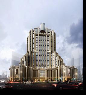 创意造型商业办公楼建筑模型