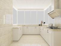 简约风格厨房装修模型