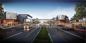 某工业区新市镇街道效果图 JPG