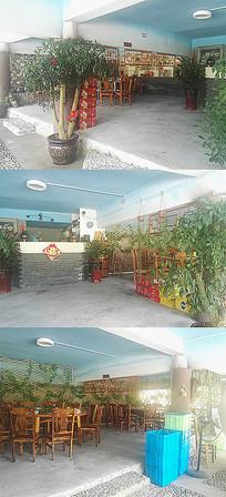 农家乐乡村餐厅室内意向图