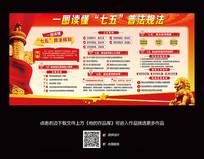 七五普法宣传栏展板